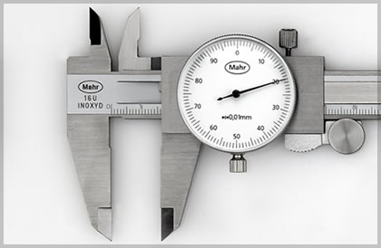 Caliper gauge, depth gauge